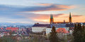 Panorama view on the cathedral of bamberg germany picture was taken in morning hours at sunrise Stock Images