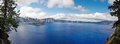 A panorama view of  crater lake Royalty Free Stock Photo