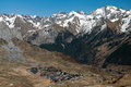 Panorama view of Formigal Royalty Free Stock Photography