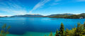 Panorama view of Nahuel Huapi Lake, close to Bariloche, Argentina Royalty Free Stock Photo