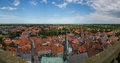 Panorama view of Ribe, Denmark Royalty Free Stock Photo