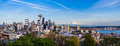 Panorama view of Seattle downtown skyline and Mt. Rainier, Washi Royalty Free Stock Photo