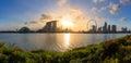 Panorama view of Singapore city Royalty Free Stock Photo