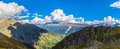 Panorama view of Swiss Alps Royalty Free Stock Photo