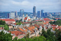 Panorama of Vilnius, Lithuania Royalty Free Stock Photo