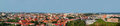 Panorama of Vilnius, Lithuania. View from the Hill of Three Crosses Royalty Free Stock Photo
