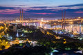 Panorama of Vladivostok, Russia at  sunset Royalty Free Stock Photo