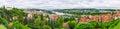 Panorama on Vltava river in Prague, Czech republic Royalty Free Stock Photo