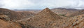 Panorama of volcanic hills, Fuerteventura Royalty Free Stock Photography