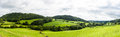 Panorama of welsh countryside Royalty Free Stock Photo