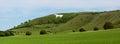 Panorama of Westbury White Horse Royalty Free Stock Photo