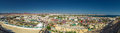 Panorama of white city and the blue sea, Egypt. Royalty Free Stock Photo