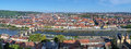 Panorama of wurzburg germany view from marienberg fortress Royalty Free Stock Photo