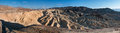 Panorama of zabriskie point in death valley panoramic view california usa at sunset Stock Images