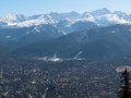 Panorama of zakopane city poland Stock Photos
