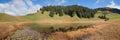 Panoramal mountain lake stelsersee in autumn Royalty Free Stock Photo