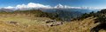 Panoramatic view  of Dhaulagiri and Annapurna Himal - Nepal Royalty Free Stock Photo
