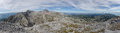 Panoramatic view from Eselstein peak, Dachstein massif, Austria Royalty Free Stock Photo