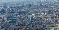 Panoramic aerial view of Tokyo residence area Royalty Free Stock Photo