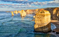 Panoramic aerial view of Twelve Apostles in Port Campbell, Austr Royalty Free Stock Photo
