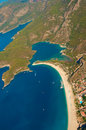 Panoramic bird s eye view on turkey oludeniz mediterranean Stock Photography