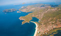 Panoramic bird s eye view on turkey oludeniz mediterranean Royalty Free Stock Photo