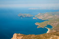 Panoramic bird s eye view on turkey oludeniz mediterranean Royalty Free Stock Photos