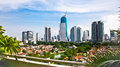 Panoramic cityscape of indonesia capital city jakarta at suny day Royalty Free Stock Photos