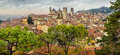 Panoramic cityscape view of Bergamo old town, Italy Royalty Free Stock Photo