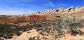 Panoramic desert landscape scenic in the utah Royalty Free Stock Photo