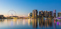 Panoramic image of the docklands waterfront area of Melbourne Royalty Free Stock Photo