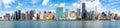 Panoramic image of midtown New York City Royalty Free Stock Photo