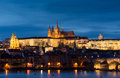 Panoramic image of prague capital city of czech republi republic Stock Images