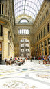 Panoramic interior galleries of the umberto i naples italy Royalty Free Stock Images