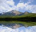 Panoramic lake Royalty Free Stock Images