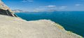 Panoramic landscape of Black Sea shore in Noviy Svet resort Royalty Free Stock Photos