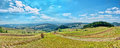 Panoramic landscape in Pieniny mountains Stock Photo