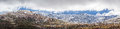 Panoramic Landscape of Snow Mountains. Australian Alps, Kosciusz Royalty Free Stock Photo