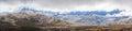Panoramic Landscape of Snow Mountains. Australian Alps, Kosciuszko National Park, Australia Royalty Free Stock Photo
