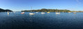 Panoramic landscape view of Mangonui Northland New Zealand Royalty Free Stock Photo