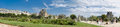Panoramic of Louvre museum from Tuileries Garden Royalty Free Stock Photo