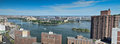 Panoramic new york city view from upper east side in usa Stock Photography