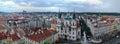 Panoramic Prague view Royalty Free Stock Photo