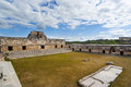 Panoramic ruins of uxmal mexico yucatan Royalty Free Stock Images