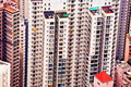 Panoramic Skyline of Hong Kong City Royalty Free Stock Photo