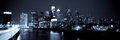 Panoramic skyline of philadelphia by night by night view Royalty Free Stock Photo