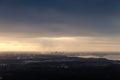 Panoramic skyline of tallinn city at cloudy winter day baltic sea coast estonia Stock Photography