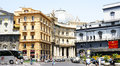 Panoramic street fronted galleries umberto i in naples italy Stock Image