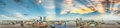 Panoramic sunset aerial view of Jacksonville, Florida Royalty Free Stock Photo