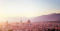 Panoramic sunset landscape of Florence Royalty Free Stock Photo
